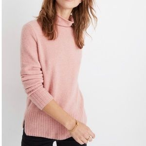 MADEWELL Inland Turtleneck Sweater NWT M Pink Rose